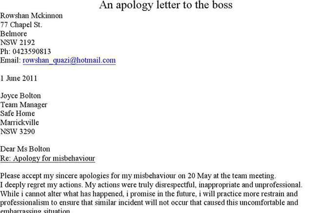 Hotel Apology Letter. Apology Letter Templates For Word | Word ...