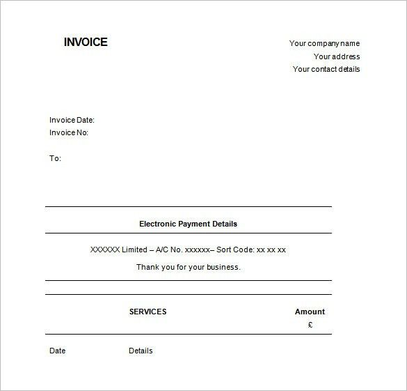 Invoice Template UK , Receipt Template Doc for Word Documents in ...