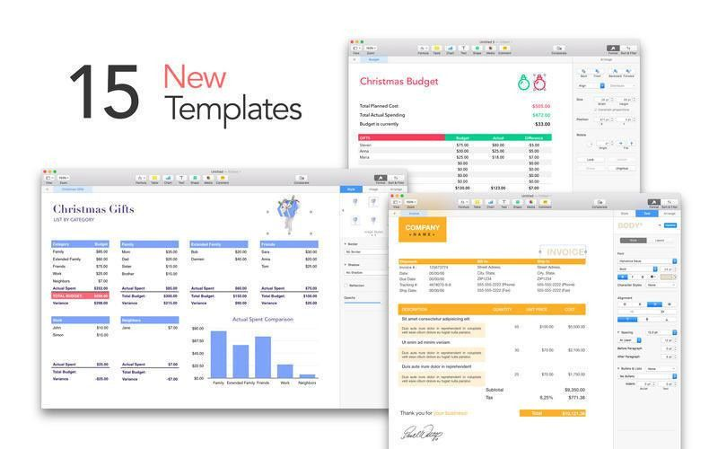 DesiGN Templates for Numbers : MacUpdate