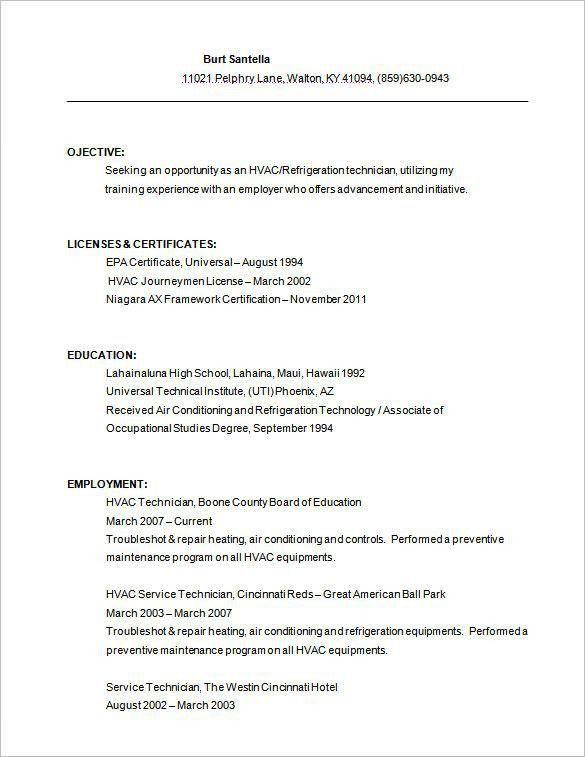 Download Hvac Resume | haadyaooverbayresort.com