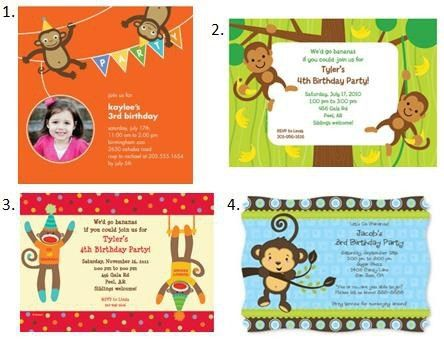 Monkey Birthday Invitations | badbrya.com