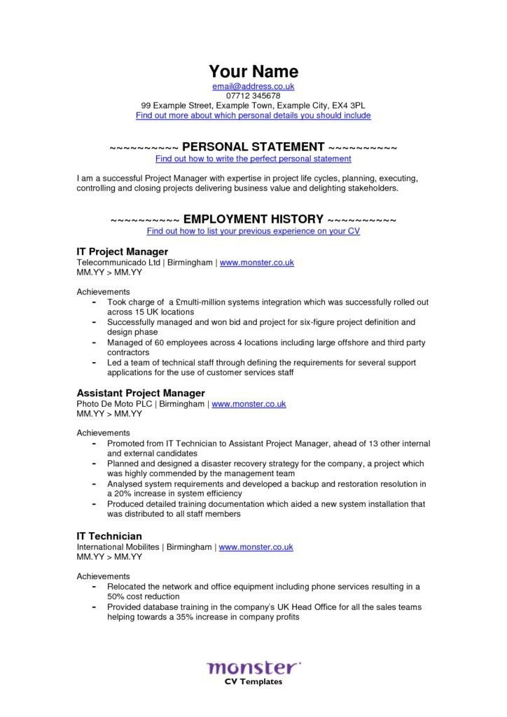 Download Monster Resume Samples | haadyaooverbayresort.com