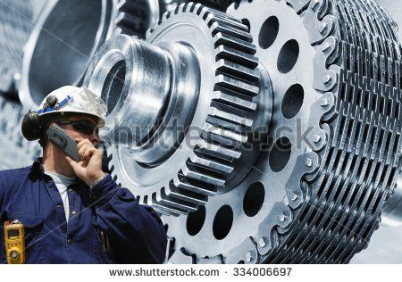 Two Mechanics Workers Front Giant Gears Stock Photo 507151447 ...