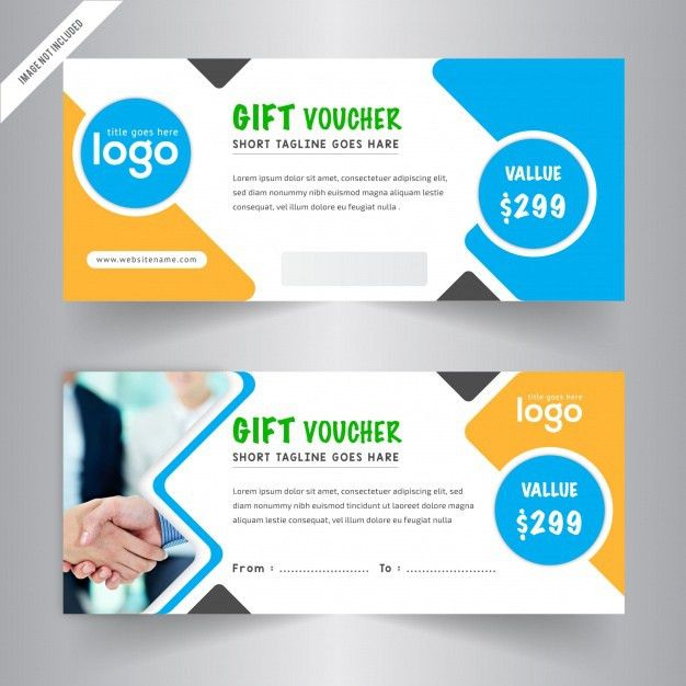 Gift vouchers templates Vector | Free Download