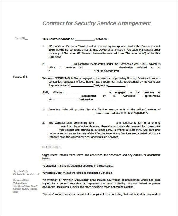 Service Agreement - 9+ Free PDF, Word Documents Download | Free ...