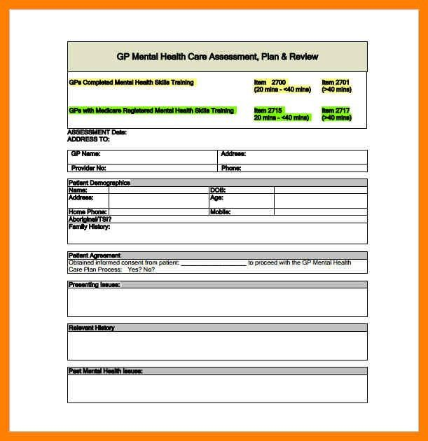 Treatment Plan Template. mental health treatment plan template ...