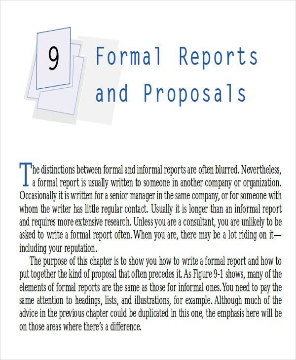 Formal Business Report Template | Howto.billybullock.us