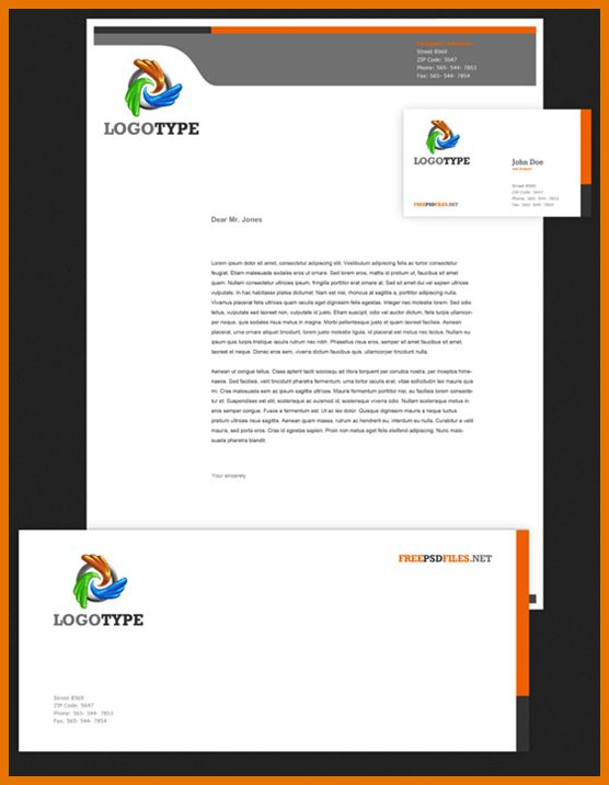 6+ professional letterhead template | Itinerary Template Sample