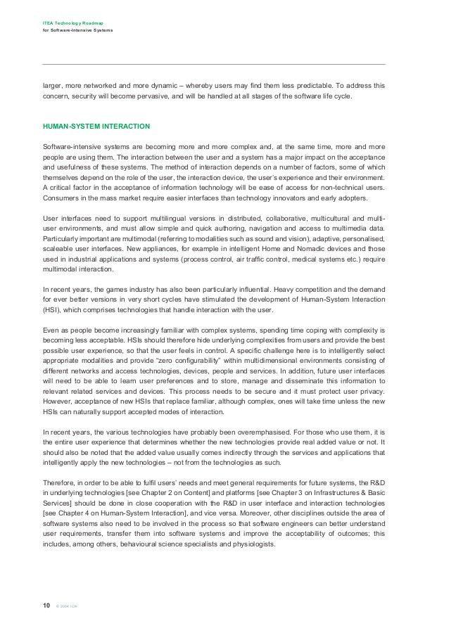 Executive Summary ITEA Roadmap 2