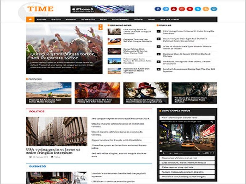 JSN Time - Free Joomla Template For News / Magazine