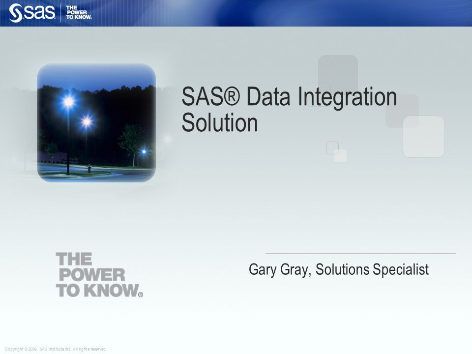SAS® Data Integration Solution - ppt video online download