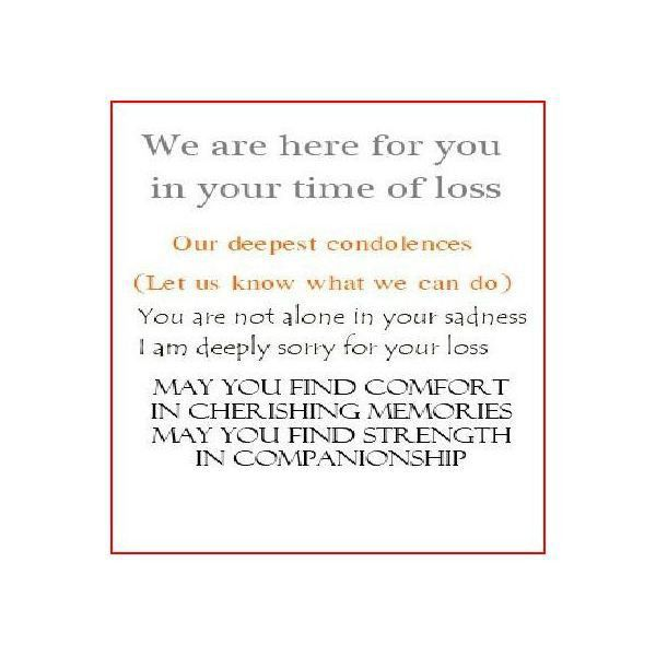 Collection of Messages to Write in a Sympathy Card When Designing ...