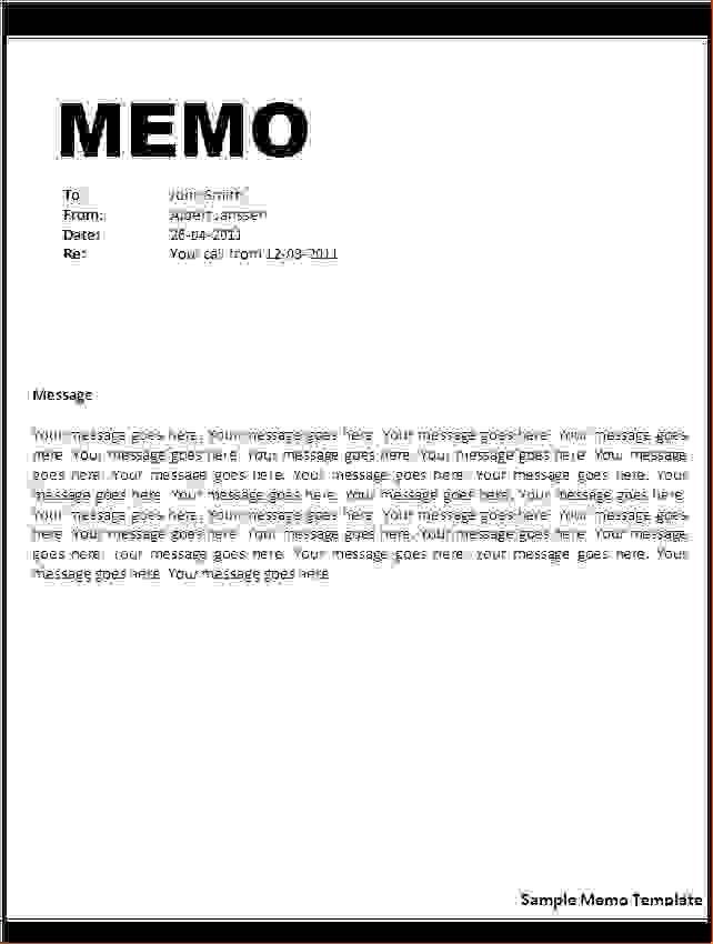 Sample Email Memo Template. Memo Letter Format_1 Jpg 4+ Memo ...
