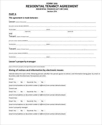 Sample Tenancy Agreement - 8+ Examples in Word, PDF