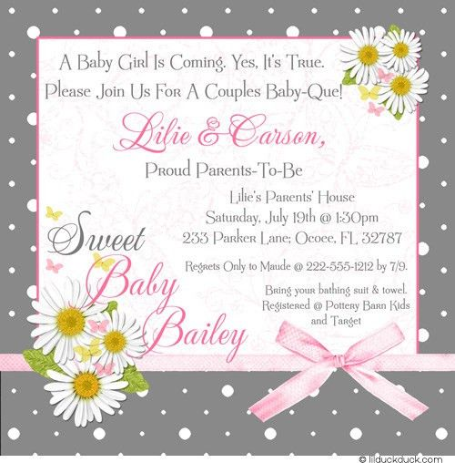 Couples Baby Shower Invitations Wording | THERUNTIME.COM