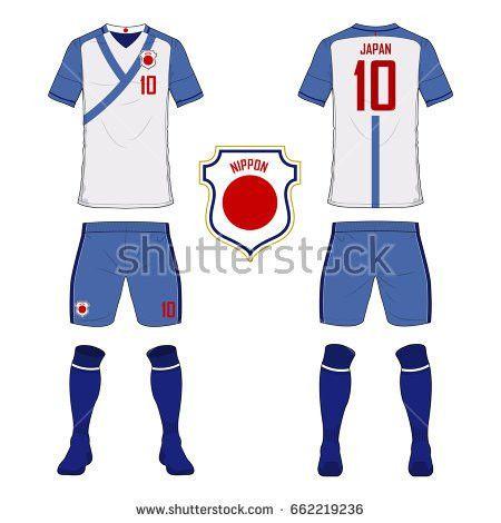 Set Soccer Kit Football Jersey Template Stock Vector 622105415 ...