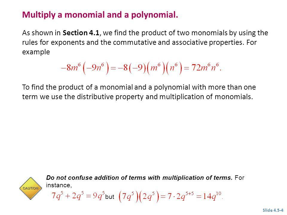 4.5 Multiplying Polynomials - ppt video online download