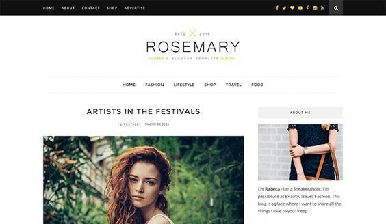 Download Free Rosemary Fashion Blogger Template Free Download and ...