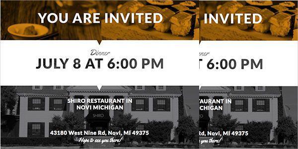 8+ Team Dinner Invitations - JPG, Vector EPS, Ai Illustrator ...