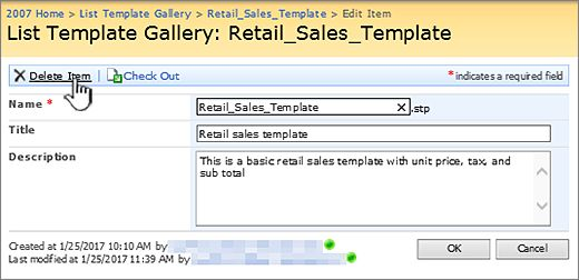 Manage list templates - SharePoint