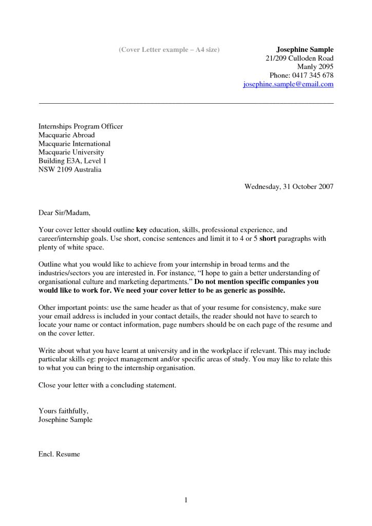 sample psw cover letters