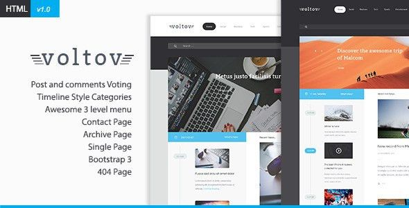 Voltov - Blog and Magzine HTML Template by xvelopers | ThemeForest