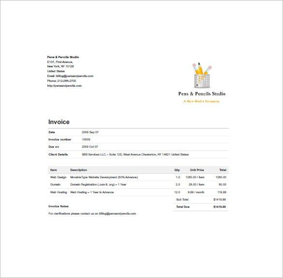 Designing Invoice Template – 10+ Free Sample, Example, Format ...