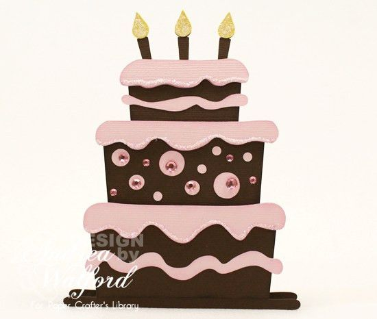 Digital Templates: Birthday Cake Card Template :: Paper Crafter's ...