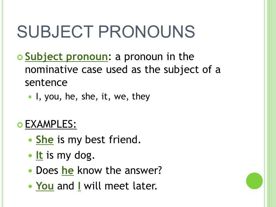 PRONOUNS. - ppt video online download