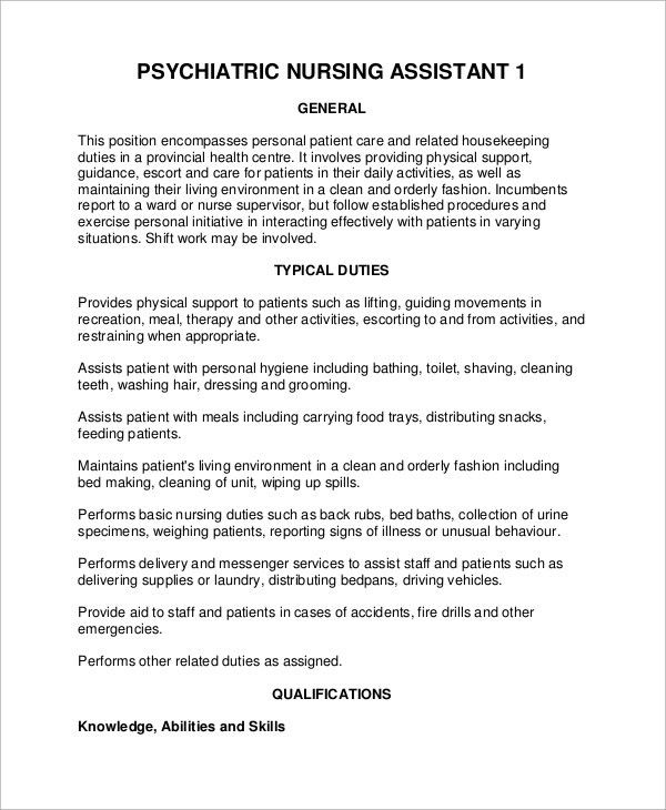 Sample Psychiatrist Job Description - 8+ Examples in PDF