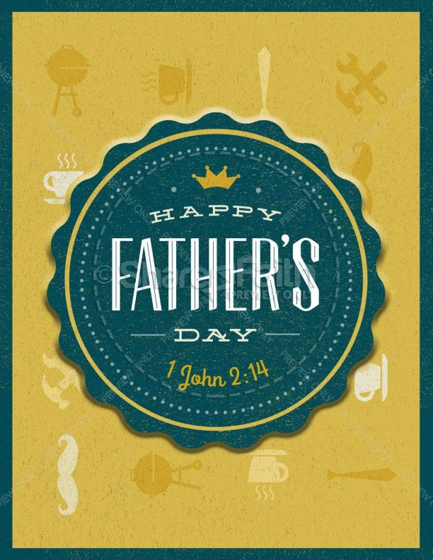 Happy Father's Day You're the Best Religious Flyer Template ...