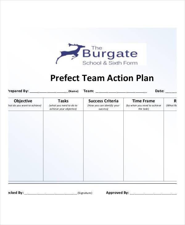 Team Action Plan Templates - 9+ Free PDF Format Download! | Free ...