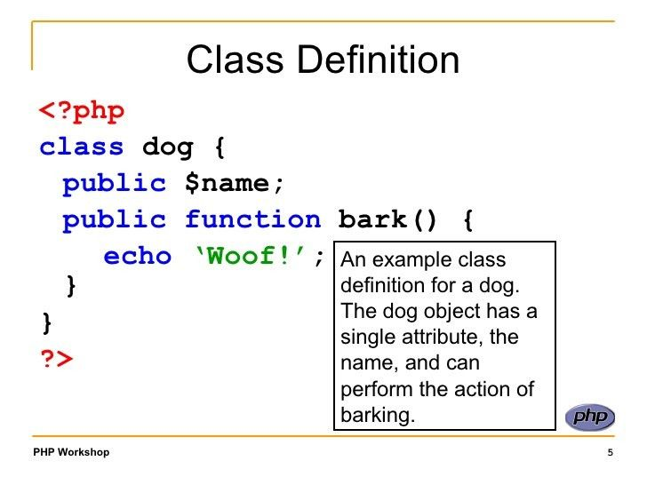 Class and Objects in PHP