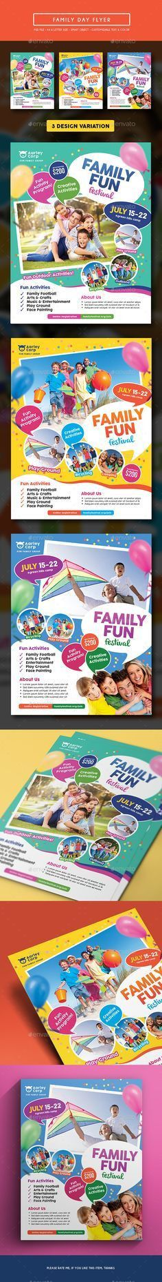 Alternative Family Fun Day Flyers Template PSD | Buy and Download ...