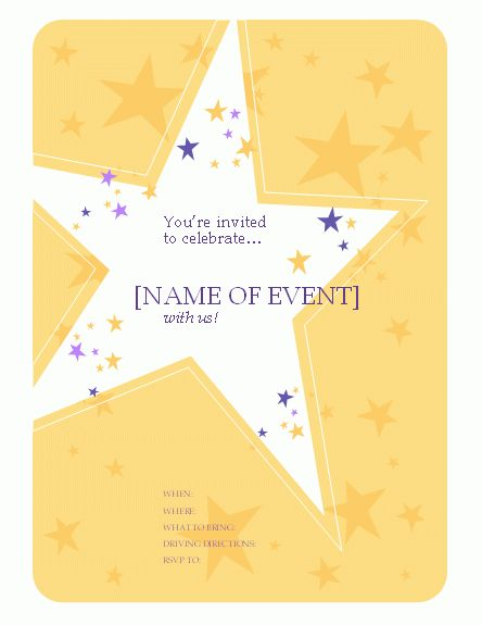 party-invitation-flyer-word | Free Flyer Designs | Pinterest ...
