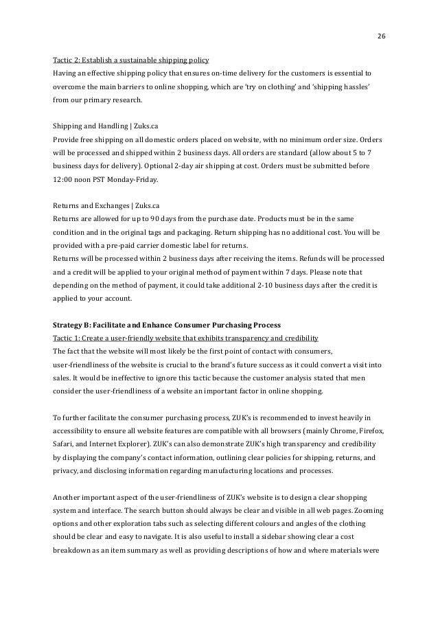 Boardroom Eco Apparel Marketing Plan