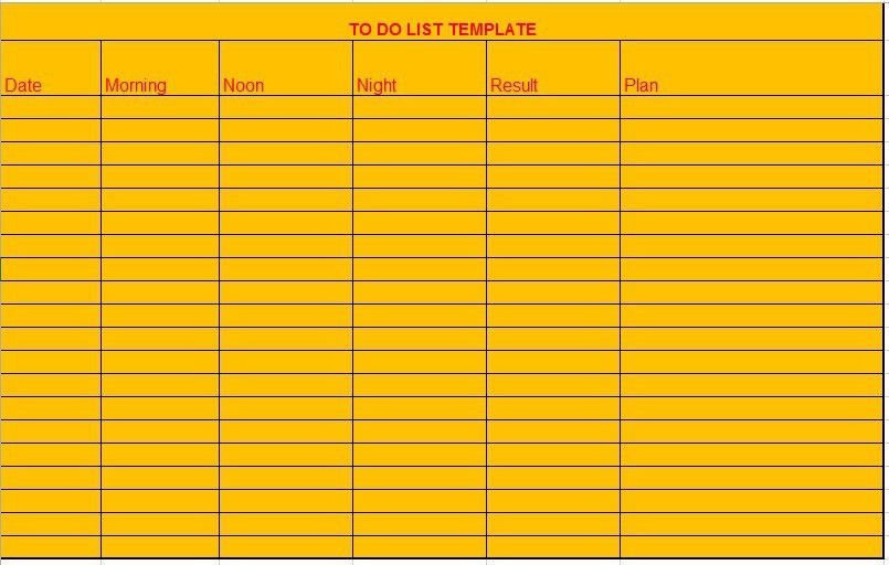 10 Free Sample Monthly To Do List Templates U2013 Printable Samples