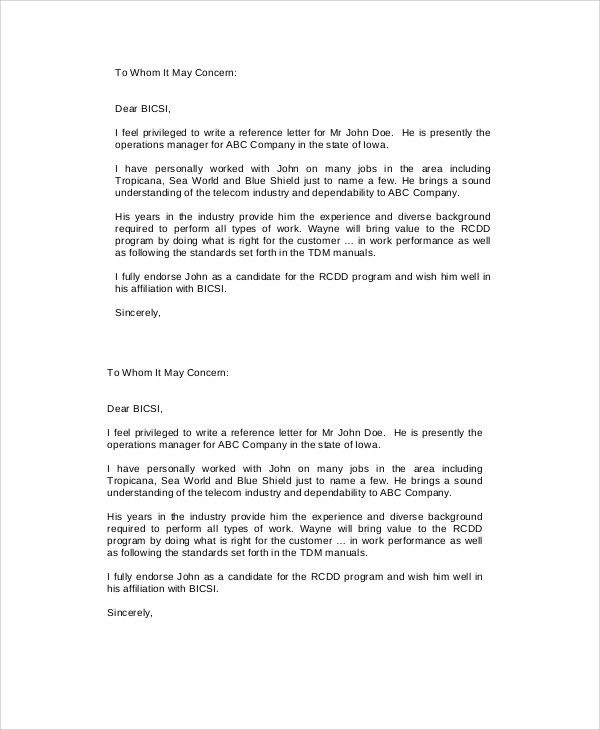 Employer Recommendation Letter. Sample Employment Reference Letter ...