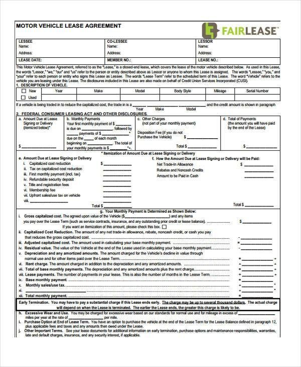 7+ Vehicle Purchase Agreement Form Samples - Free Sample, Example ...