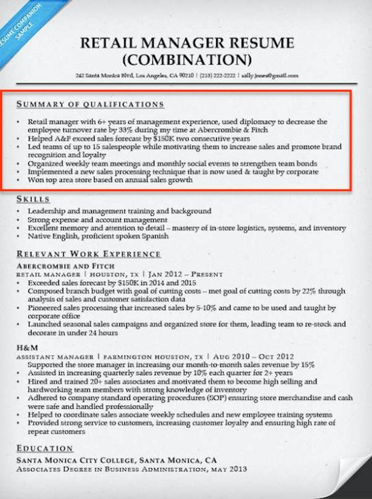 Wonderful Ideas Summary Of Skills Resume 3 Example Example ...