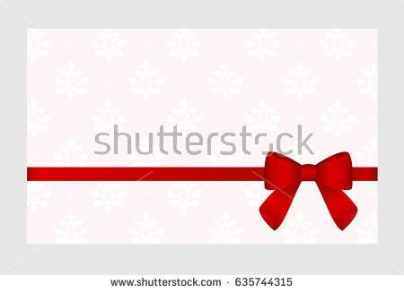 Gift Card Satin Red Ribbon Bow Stock Vector 577449499 - Shutterstock