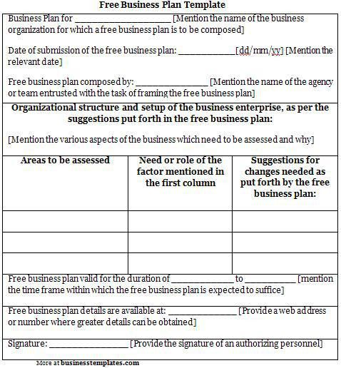 Business Plan Template Free | aplg-planetariums.org