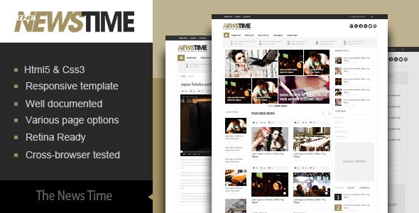 The News Time Magazine HTML5 Template by kopasoft | ThemeForest