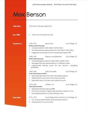 Absolutely Smart Formal Resume 12 Reverse Chronological Template ...