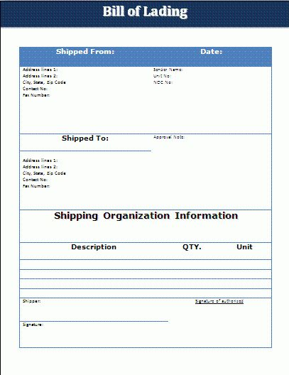 14+ bill of lading template word | Pay Stub Template