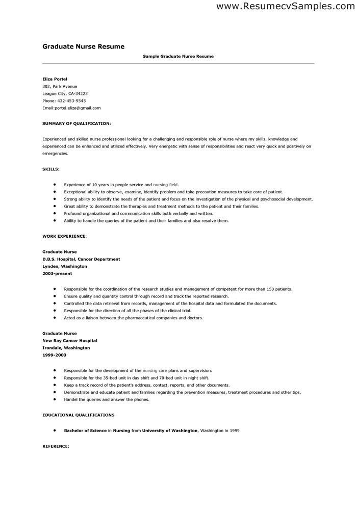 New Graduate Nurse Resume - uxhandy.com