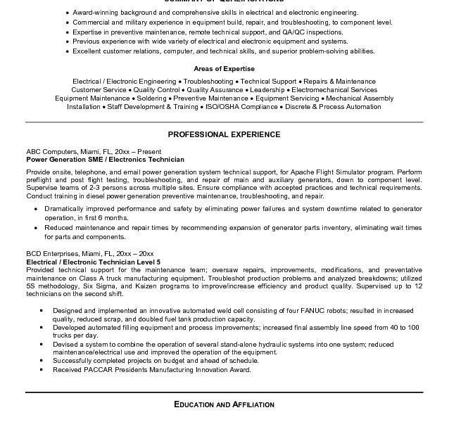 Quality Technician Resume Objective. medium size of resumeresume ...
