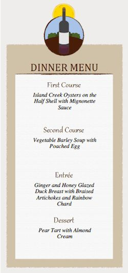 Dinner Party Menu Card and Place Card Templates | Dinner Series