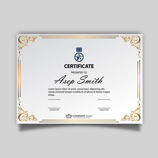 Elegant certificate template Vector   Free Download
