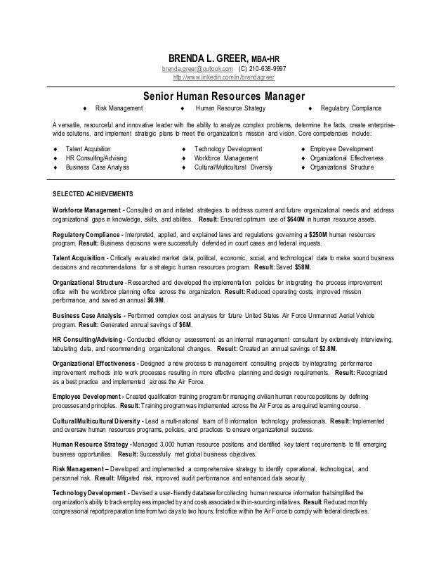 Human Resource Manager Resume